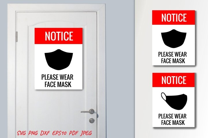 Signage Please Wear Face Mask. Signage for COVID.