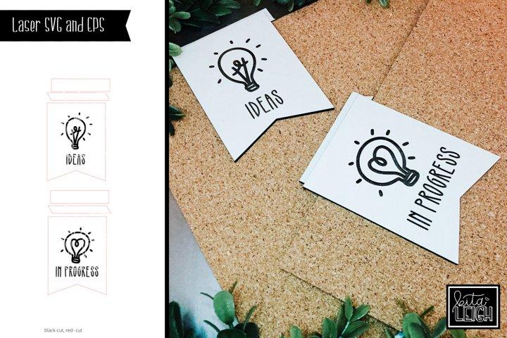 Laser Cut Idea Boards SVG