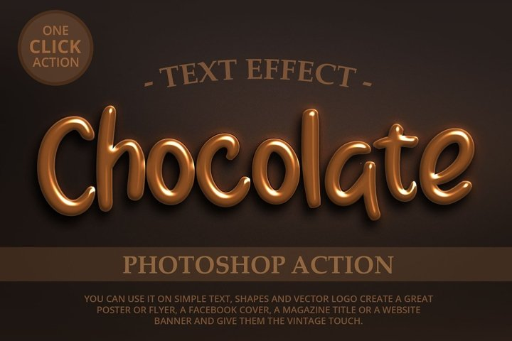 Chocolate Text Effect Photoshop Action