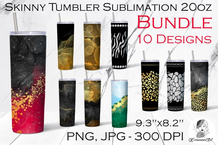 20oz Skinny Tumbler BUNDLE / Tumbler Sublimation Design