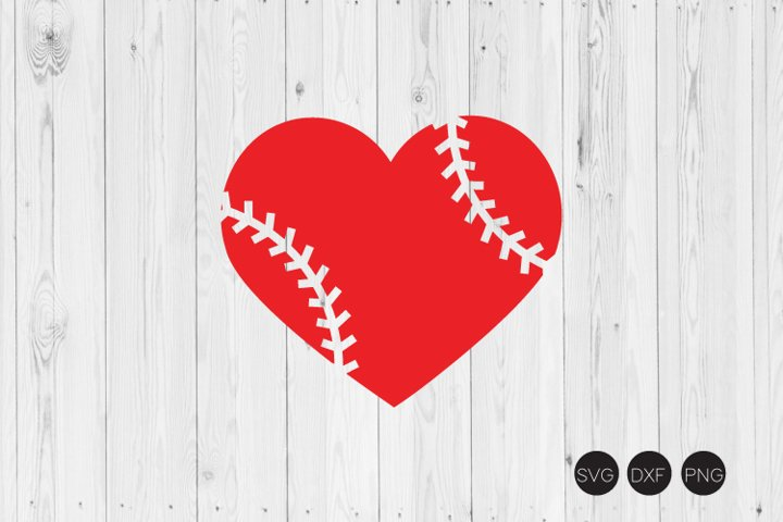 Baseball Heart Svg Baseball Svg Dxf Png Cut Files 187674 Cut Files Design Bundles