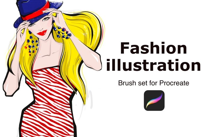 Fashion illustration brushes for PROCREATE
