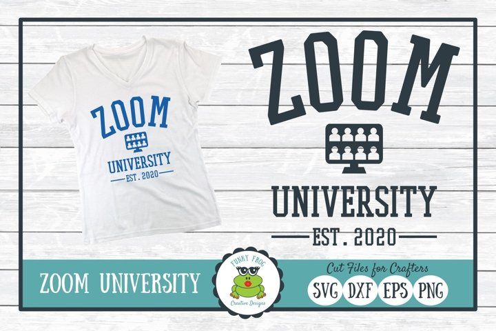 Zoom University SVG Cut File for Crafters