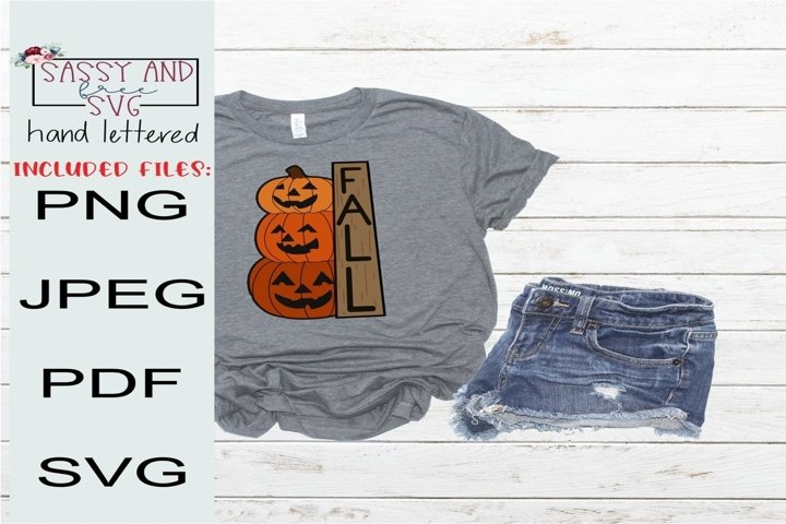 Fall pumpkins Hand Lettered and Hand Drawn SVG, PNG, & JPEG