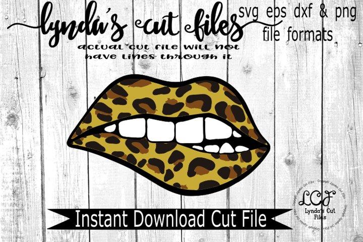 Leopard Lips//SVG//EPS//DXF
