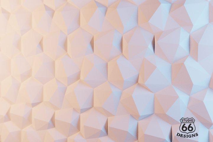 Tiles Cubism Papercraft, High-Tech Interior Design Tile