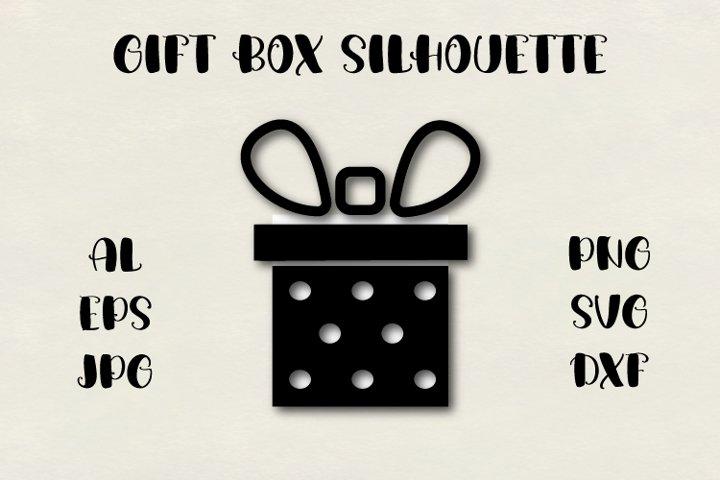 Gift box silhouette SVG, Christmas SVG, present SVG