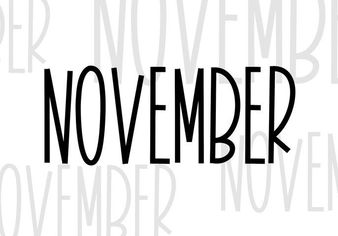 November - A Tall Handwritten Font - Free Font of The Week Design2