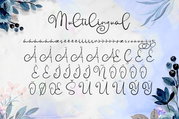 Childish - A Lovely Font Calligraphy example 3