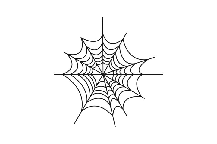 Spider web vector illustration. Black spider web