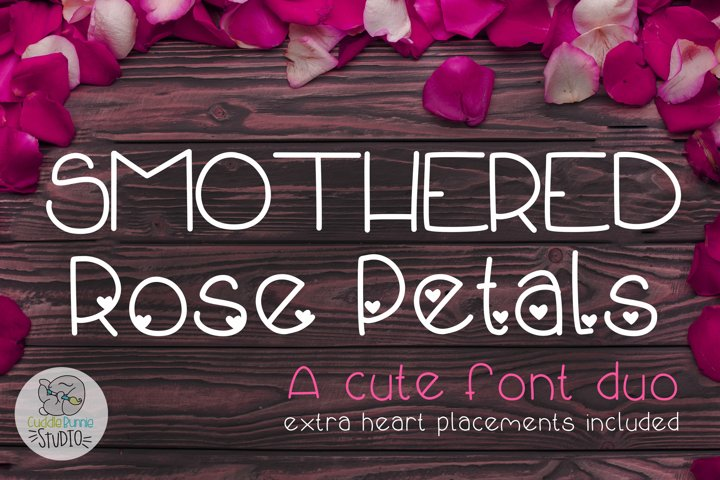 Smothered Rose Petals | A Cute Valentine Font Duo - Free Font Of The Week