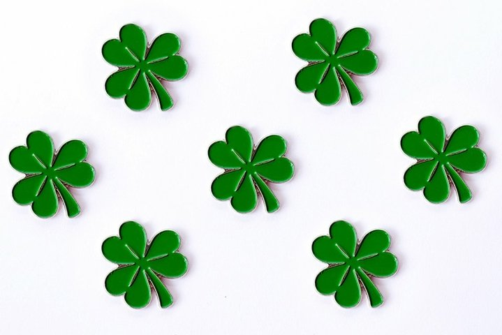 Background for St. Patricks day. for design with clover