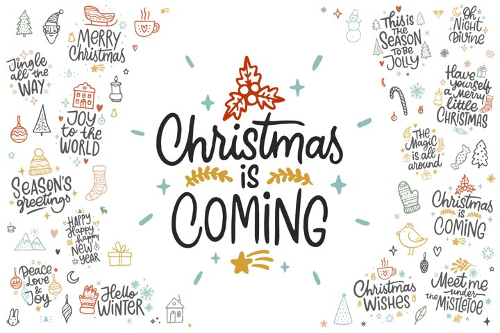 Christmas is coming, Graphic Set