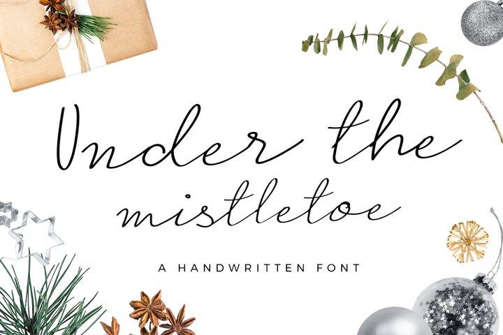 Under the Mistletoe - Handwritten Script Font