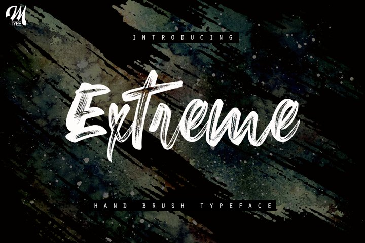 New Extreme Brush Font