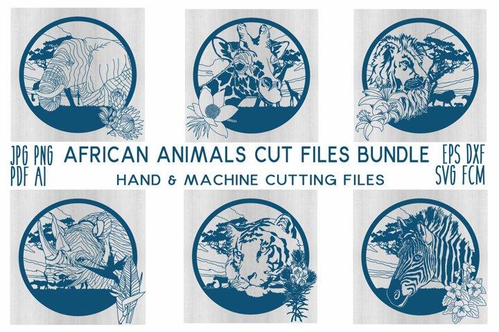 African Animals Cut File Bundle jpg/png/pdf/svg/fcm