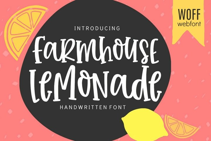 WEB FONT Farmhouse Lemonade - WOFF File