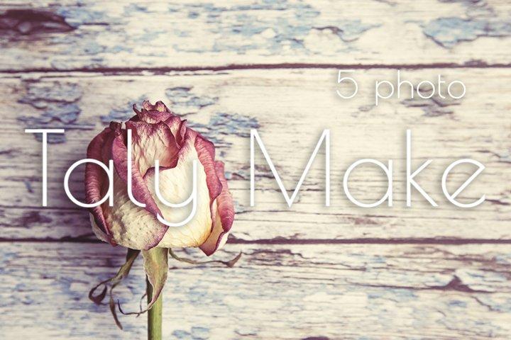 Vintage background, dry rose