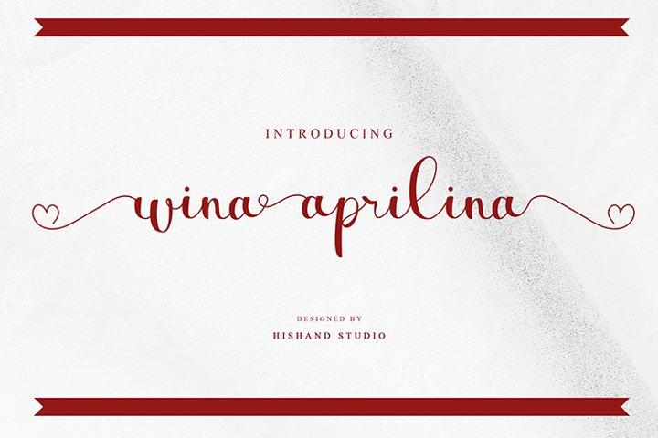 wina aprilina script font