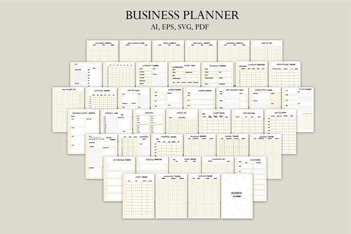 Business planner-gold