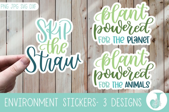 Eco Friendly Sticker Pack, Quote Stickers, Print then Cut