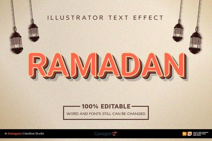 Ramadan bold text style effect
