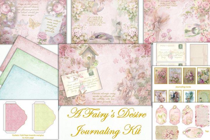 Printable Fairy Journaling Kit, Free Ephemera and PNGs