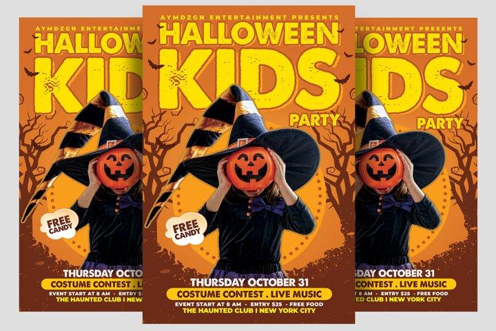 Kids Halloween Flyer
