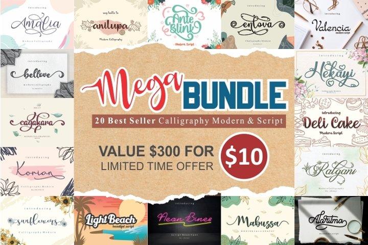 Mega Bundle - 20 Calligraphy & Script Best Seller Font