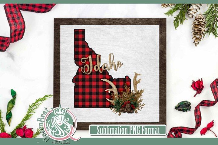 Sublimation | Idaho Plaid Christmas State