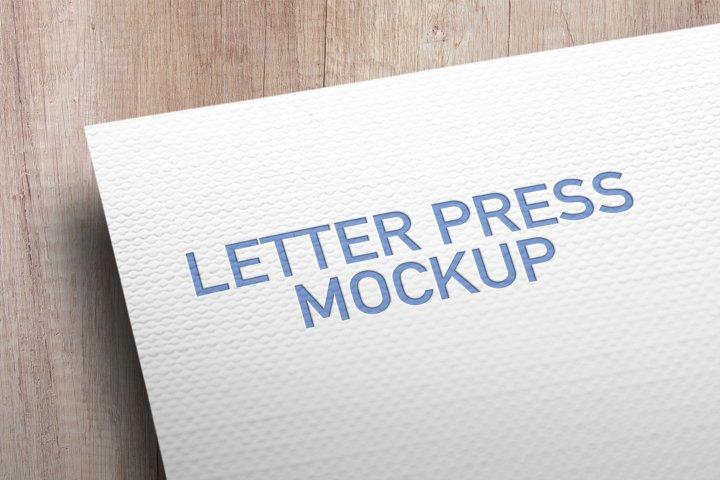 Letterpress Card Mockup