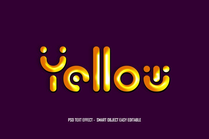 Yellow Gold PSD Text Effect Smart