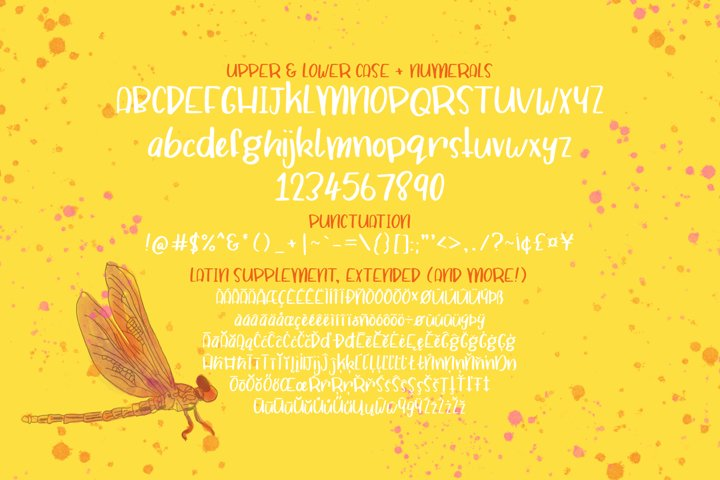Dragonfly Soup - A quirky hand drawn font example 1
