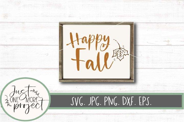 Happy Fall Sign svg, Happy Fall svg, Fall Farmhouse svg