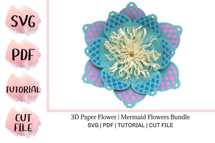 3D Paper Flower | Mermaid Flowers Bundle