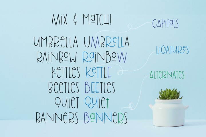 Brolly Fight, an off kilter font - Free Font of The Week Design9