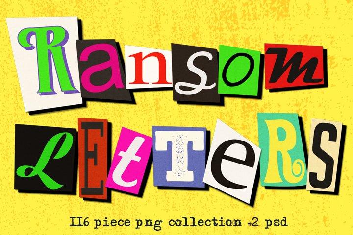 Ransom Letter Cutout Alphabet Set