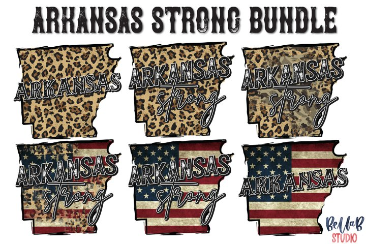 Arkansas Strong Sublimation Design Bundle, Arkansas Bundle