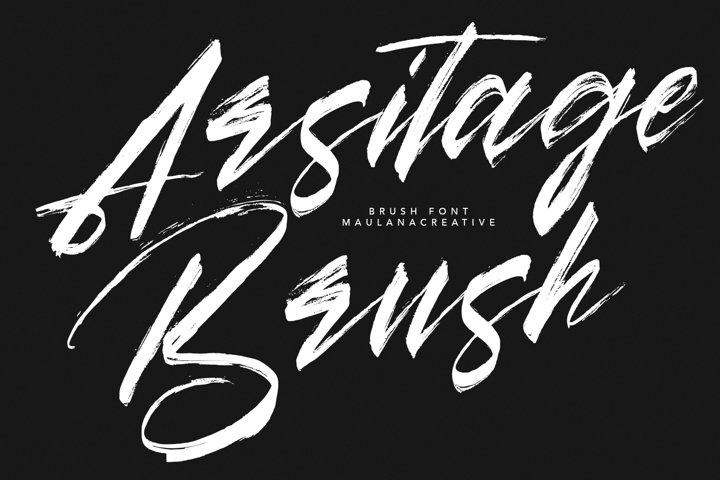 Arsitage Brush Font