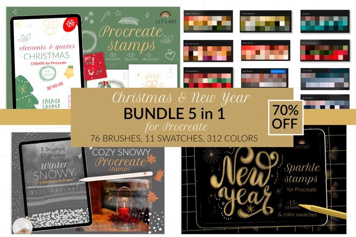 Christmas Procreate bundle