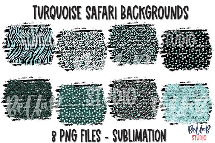 Turquoise Safari Background Bundle, Sublimation Backsplash