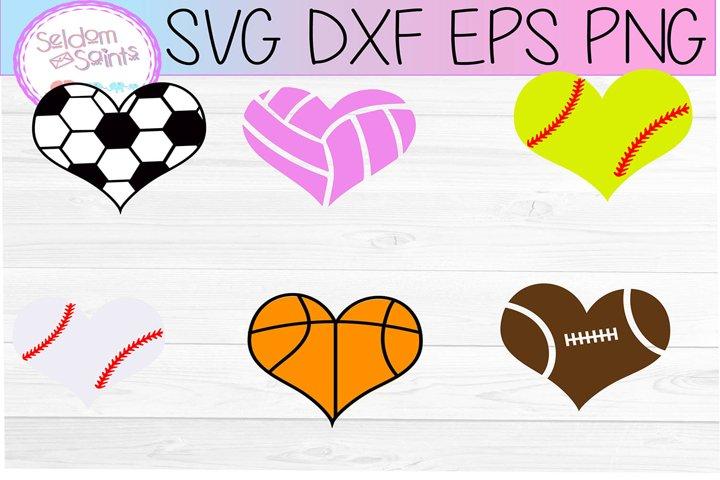 Sports Heart Bundle SVG PNG EPS DXF