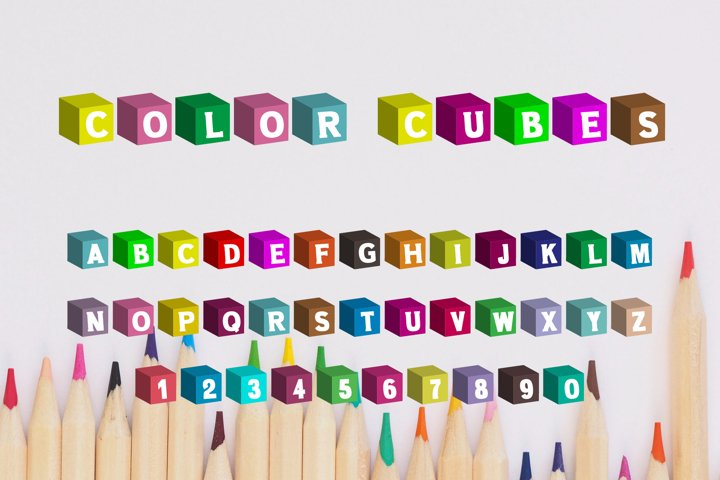 Color Cubes Font