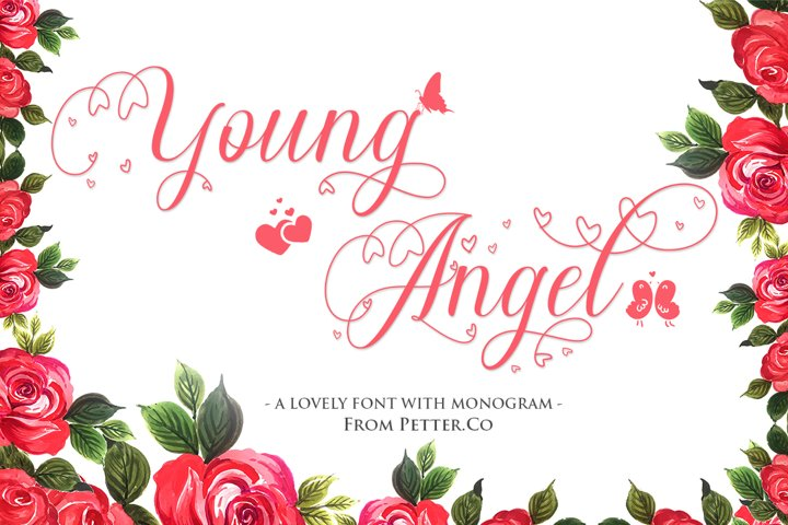 Young Angel Calligraphy Font