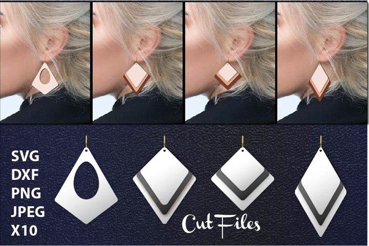 Leather earring svg, Stacked Earring, Earrings Acrylic