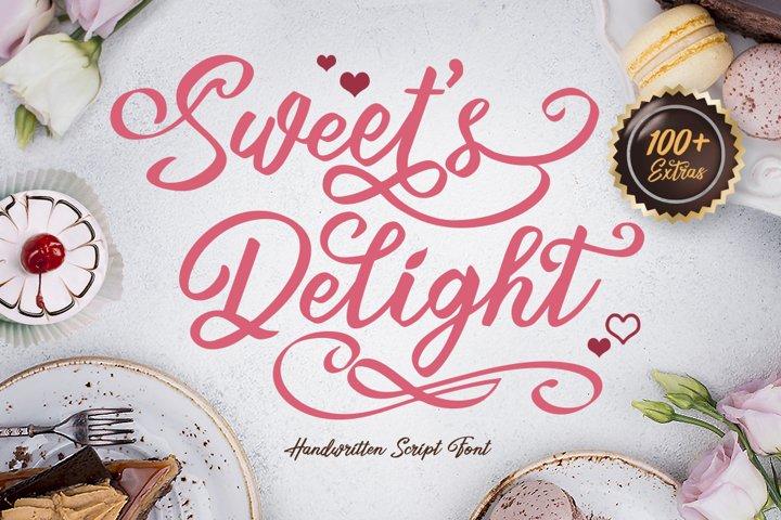 Sweets Delight - Handwritten Script