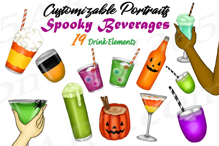 Best Friends Clipart Accessories Spooky Halloween Drinks PNG
