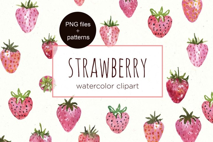 Strawberry Clipart Watercolor Berry Strawberries clip art