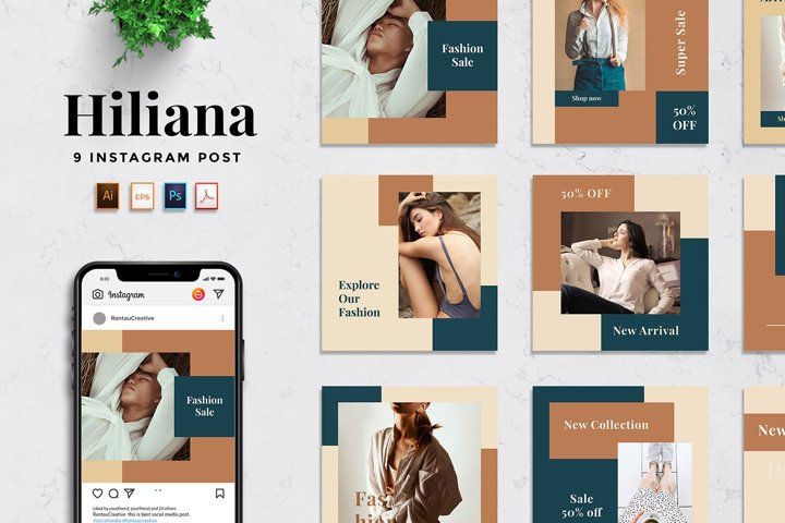 Hiliana - Fashion Social Media Template