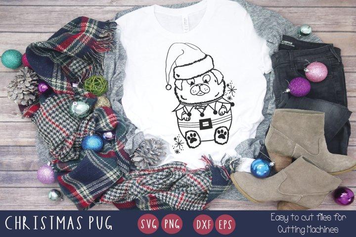 Christmas Dog Illustration svg Funny christmas animal svg